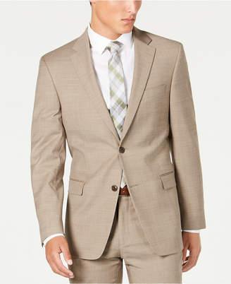 Tommy Hilfiger Men Modern-Fit THFlex Stretch Tan Sharkskin Suit Separate Jacket