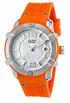 Elini Barokas Women's 'Spirit' Swiss Quartz Stainless Steel and Silicone Watch, Color:Orange (Model: 20005-02-OS)