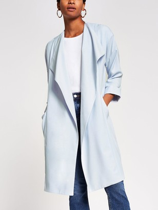 River Island Relaxed Duster - Light Blue