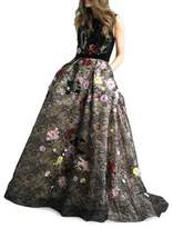 Basix II Floral Floor-Length Gown