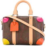Etro multicoloured corner paisley print tote bag