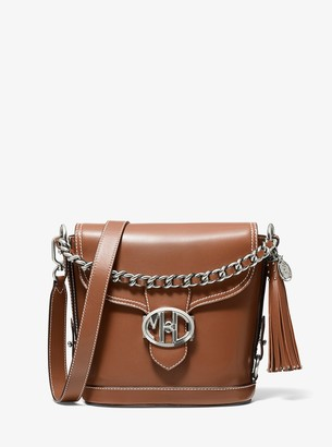 Michael Kors Collection Monogramme Leather Front-Flap Crossbody Bag
