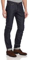 Naked & Famous Denim Men's Weird Guy Low-Rise Jean in Dirty Fade Selvedge