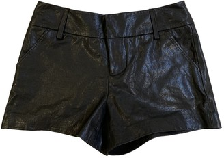 Alice + Olivia Black Leather Shorts for Women