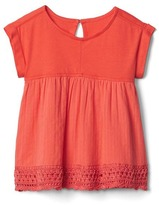 Gap Crochet trim double-layer top