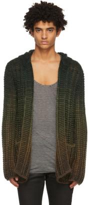 Saint Laurent Green Crochet Baja Cardigan