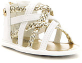 MICHAEL Michael Kors Girls' Baby Amy Metallic Braided Crib Sandals