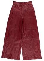 Proenza Schouler Leather High Waist Culottes