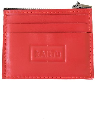 Kartu Studio Natural Leather Card/Coin Case ''Thyme'' Red
