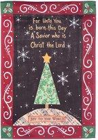 "Evergreen Christmas ""Joy To The World"" Indoor / Outdoor Garden Flag"
