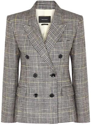 Isabel Marant Celeigh checked linen-blend blazer