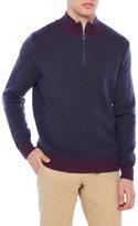 James Tattersall Quarter-Zip Mock Neck Sweater