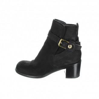 Louis Vuitton \N Black Suede Ankle boots