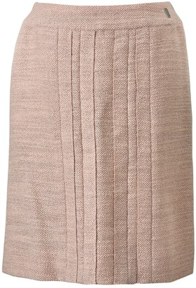 Chanel Pink Wool Skirt for Women Vintage