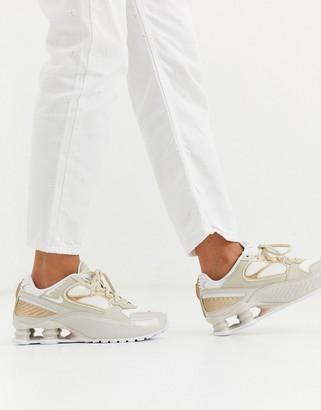 Nike beige Shox Enigma 9000 trainers