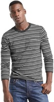 Gap Slub jersey stripe long sleeve tee