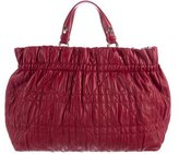 Christian Dior Ruched Cannage Leather Satchel