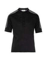 Balenciaga Contrast-yoke Cotton T-shirt