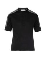 Balenciaga Contrast-yoke cotton T-shirt