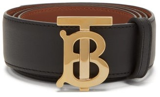 Burberry Tb-buckle Reversible Leather Belt - Black