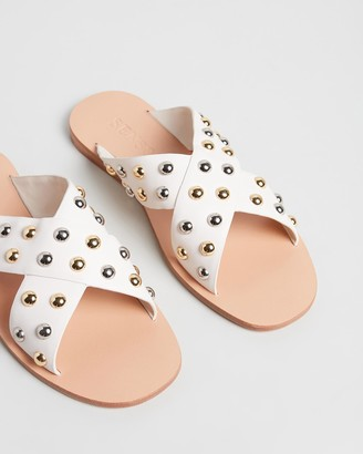 Senso Women's White Flat Sandals - Breana - Size One Size, 37 at The Iconic