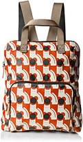 Orla Kiely Poppy Cat Print Tote Backpack