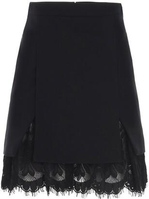 Alexander McQueen Lace Layered Mini Skirt