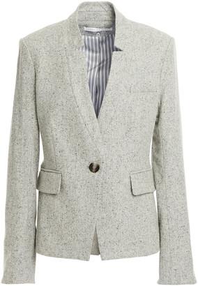 Veronica Beard Farley Dickey Marled Wool-blend Blazer