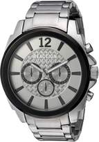 Kenneth Cole Reaction Men's 'Sport' Quartz Metal and Stainless Steel Casual Watch, Color:Silver-Toned (Model: 10031947)