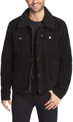 Levi's Men's Classic Corduroy Trucker Jacket with Sherpa Lining