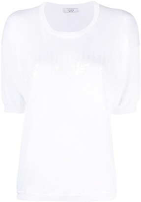 Peserico sequin-embellished T-shirt