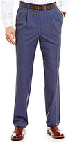 Roundtree & Yorke Travel Smart Ultimate Comfort Classic-Fit Tic Weave Pleated Non-Iron Dress Pants