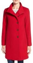 Fleurette Wool Stand Collar Car Coat (Regular & Petite)