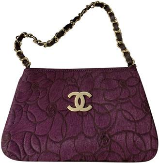 Chanel Purple Pony-style calfskin Clutch bags