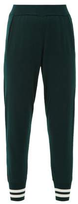 LNDR Arctic Striped-cuff Wool Track Pants - Womens - Green