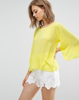 Traffic People Bell Sleeve Top