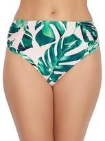 Birdsong Weekend Escape Ruched High-Waist Bikini Bottom