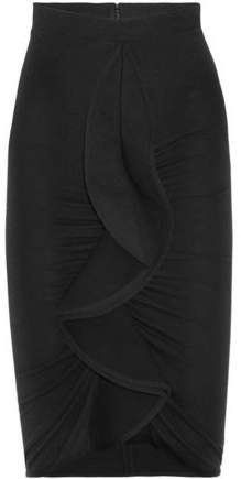 Givenchy Black Skirt With Ruffle
