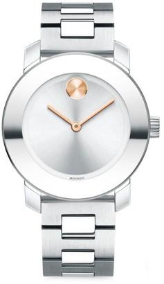 Movado BOLD Reflective Stainless Steel Bracelet Watch