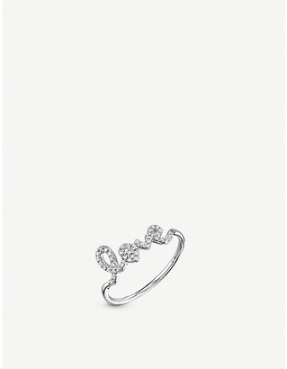 Sydney Evan The Alkemistry Love script 14ct white-gold and diamond ring