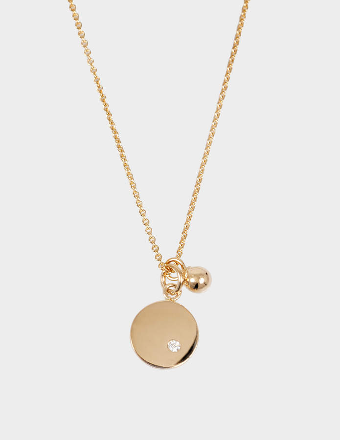 ginette_ny Mini Ever Disc 18-karat rose gold necklace