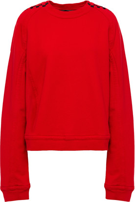 Haider Ackermann Jacquard-trimmed French Cotton-terry Sweatshirt