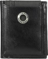Steve Madden Grommet Glazed Leather L-Fold Wallet