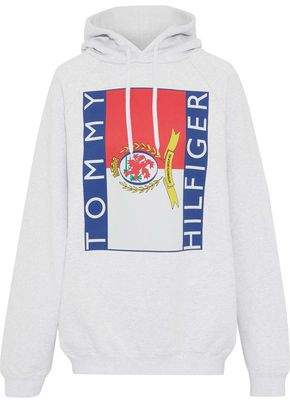 Vetements + Tommy Hilfiger Printed French Cotton-blend Terry Hoodie