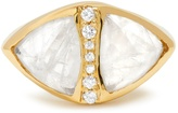Jacquie Aiche Diamond, moonstone & yellow-gold ring
