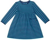 Jo-Jo JoJo Maman Bebe Classic Dress (Toddler/Kid) - Navy/Jade Stripe-2-3 Years