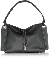 Buti Charm Drop Black Pebble Italian Leather Hobo Bag