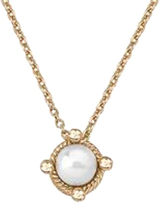 Majorica 6MM White Round Man-Made Pearl & Goldplated Sterling Silver Pendant Necklace