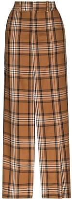 A.W.A.K.E. Mode Check Split Detail Maxi Skirt