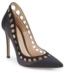 Gianvito Rossi Cutout Point Toe Pumps